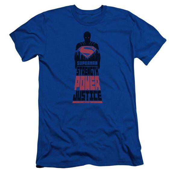Batman V Superman Super Justice Short Sleeve Adult Royal T-Shirt