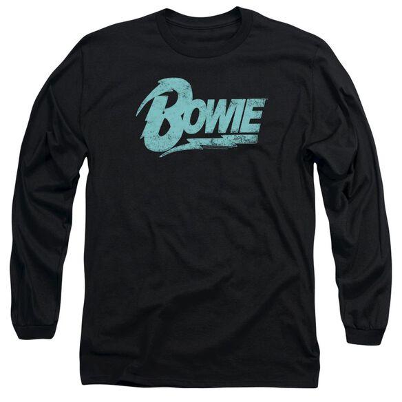 David Bowie Logo Long Sleeve Adult T-Shirt