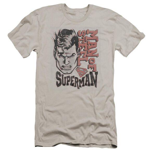 Superman Retro Lines Premuim Canvas Adult Slim Fit