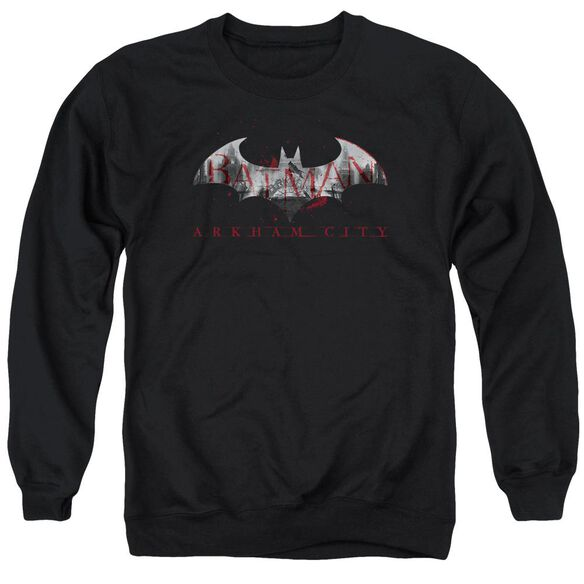 Arkham City Bat Fill Adult Crewneck Sweatshirt