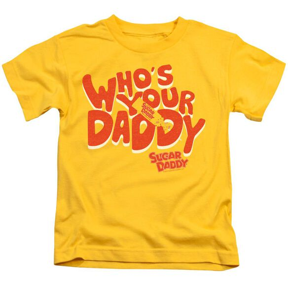 Tootsie Roll Who's Your Daddy Short Sleeve Juvenile Yellow T-Shirt
