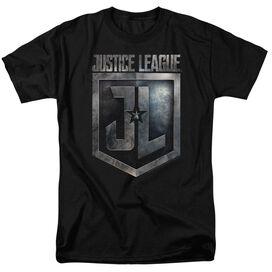 Justice League Movie Shield Logo Short Sleeve Adult T-Shirt