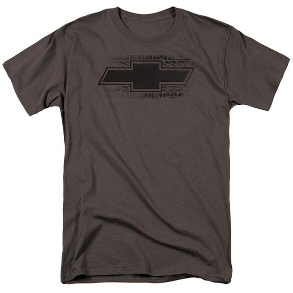 Chevrolet Bowtie Burnout Short Sleeve Adult Charcoal T-Shirt