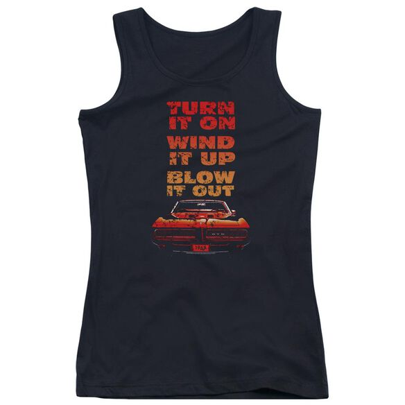 Pontiac Blow It Out Gto Juniors Tank Top