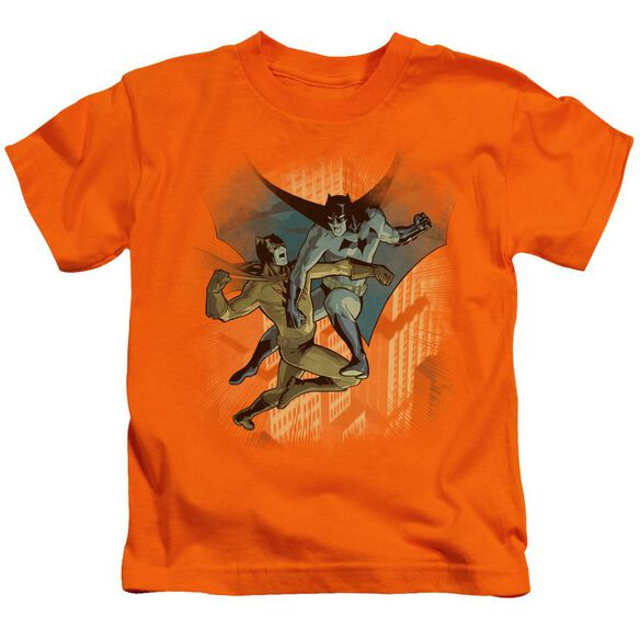 Batman Batman Vs Catman Short Sleeve Juvenile Orange T-Shirt