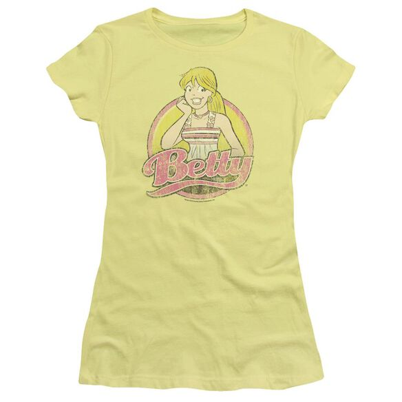 Archie Comics Betty Distressed Short Sleeve Junior Sheer T-Shirt