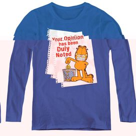 GARFIELD DULY NOTED-WOMENS LONG SLEEVE