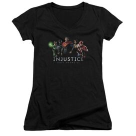 Injustice Gods Among Us Injustice League Junior V Neck T-Shirt
