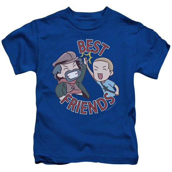 Valiantbest Friends Emoji Short Sleeve Juvenile Royal T-Shirt