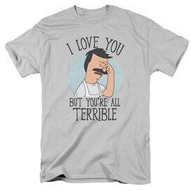 Bobs Burgers Love You Terribly Short Sleeve Adult T-Shirt