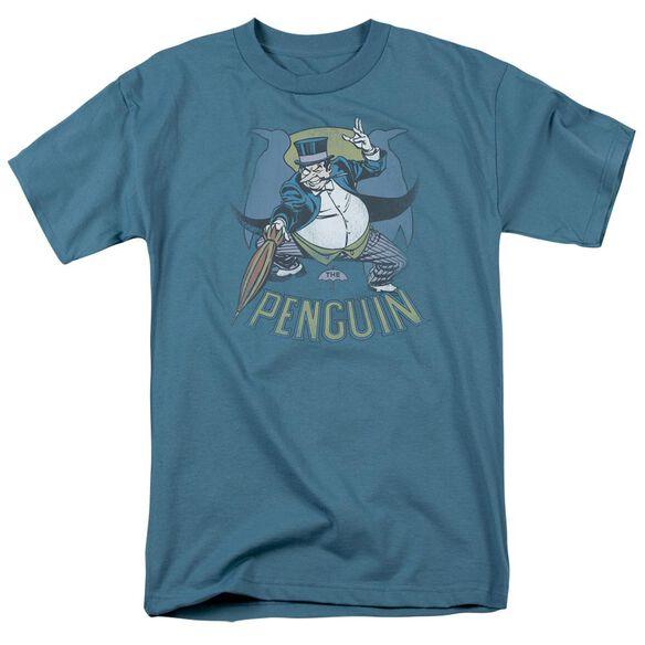 Dc The Penguin Short Sleeve Adult Slate T-Shirt