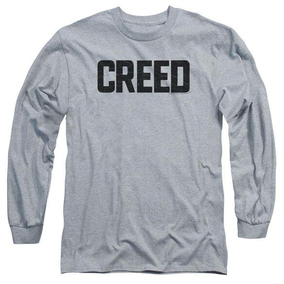 Creed Cracked Logo Long Sleeve Adult Athletic T-Shirt