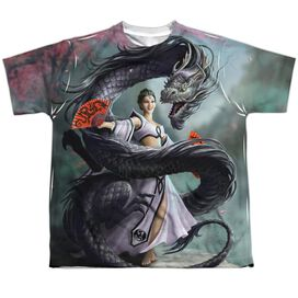 Anne Stokes Dragon Dancer Short Sleeve Youth Poly Crew T-Shirt