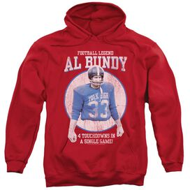 Married With Children Football Legend Adult Pull Over Hoodie