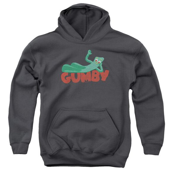 Gumby On Logo Youth Pull Over Hoodie