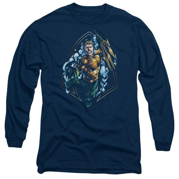 Jla Thrashing Long Sleeve Adult T-Shirt