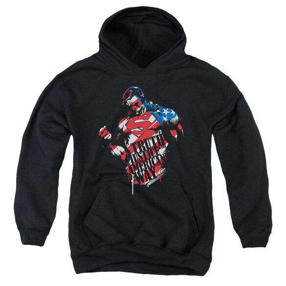 Superman The American Way Youth Pull Over Hoodie