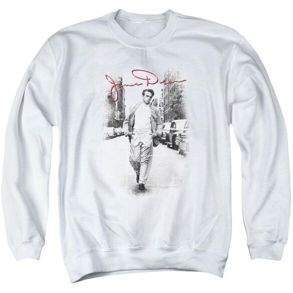 Dean Street Distressed Adult Crewneck Sweatshirt