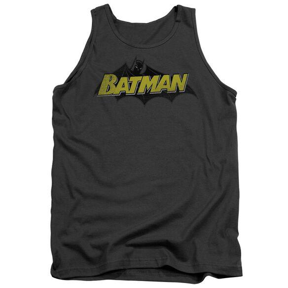 Batman Classic Comic Logo Adult Tank