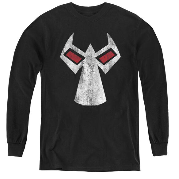 Batman Bane Mask - Youth Long Sleeve Tee - Black