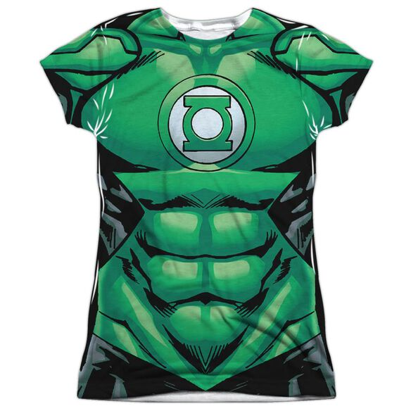 Green Lantern Uniform Short Sleeve Junior Poly Crew T-Shirt