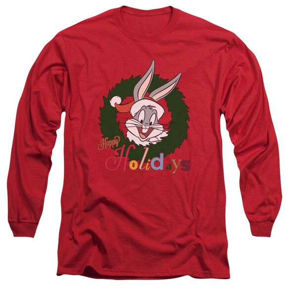 Looney Tunes Holiday Bunny Long Sleeve Adult T-Shirt