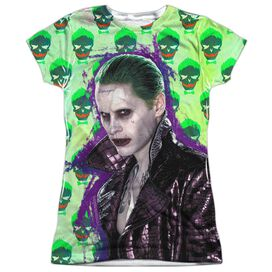 Suicide Squad Joker Jacket Skull Short Sleeve Junior Poly Crew T-Shirt