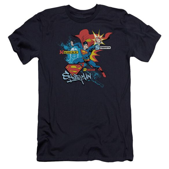 Superman Abilities Premuim Canvas Adult Slim Fit