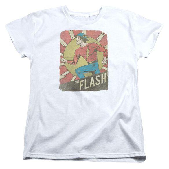 Dc Flash Tattered Poster Short Sleeve Womens Tee T-Shirt