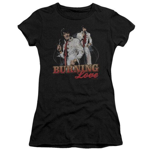 Elvis Burning Love Short Sleeve Junior Sheer T-Shirt