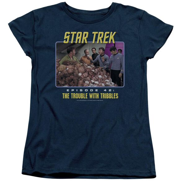 St:Original The Trouble With Tribbles Short Sleeve Womens Tee T-Shirt