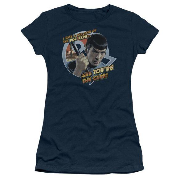 Star Trek Pon Far Short Sleeve Junior Sheer T-Shirt
