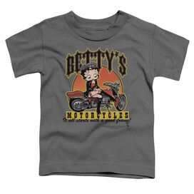 Betty Boop Betty's Motorcycles Short Sleeve Toddler Tee Charcoal Lg T-Shirt