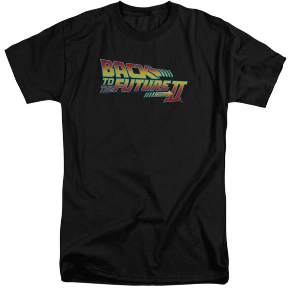 Back To The Future Ii Logo Short Sleeve Adult Tall T-Shirt