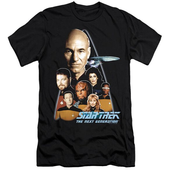 STAR TREK THE NEXT GENERATION - S/S ADULT 30/1 - BLACK T-Shirt