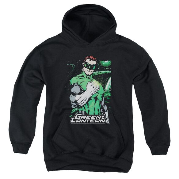 Jla Fist Flare Youth Pull Over Hoodie