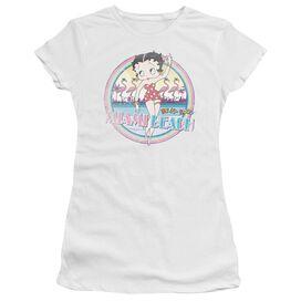 Betty Boop Miami Beach Short Sleeve Junior Sheer T-Shirt