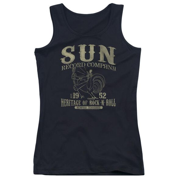 Sun Records Rockabilly Bird Juniors Tank Top