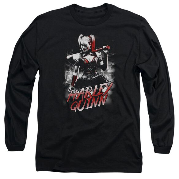Batman Arkham Knight Quinn City Long Sleeve Adult T-Shirt