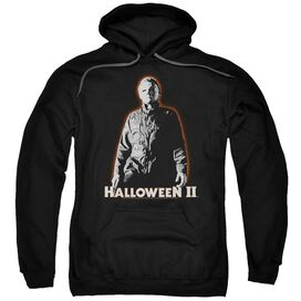 HALLOWEEN II MICHAEL MYERS - ADULT PULL-OVER HOODIE - Black