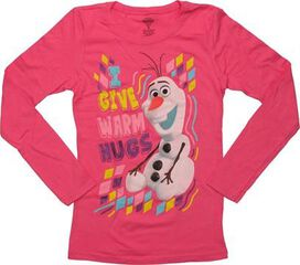 Frozen Olaf Warm Hugs Long Sleeve Youth T-Shirt