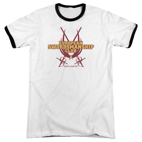 Star Trek Swordsmanship Club Adult Ringer White Black