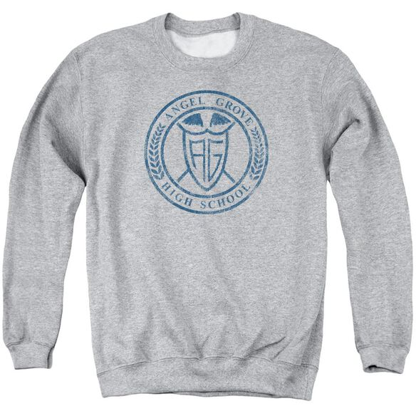 Power Rangers Angel Grove Hs Adult Crewneck Sweatshirt Athletic