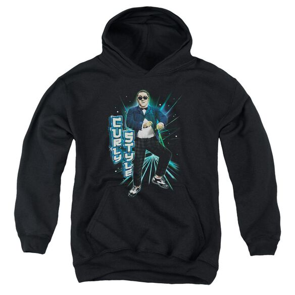 Three Stooges Curly Style Youth Pull Over Hoodie