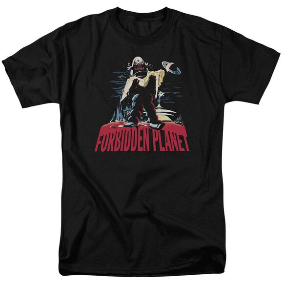 Forbidden Planet Robby And Woman Short Sleeve Adult T-Shirt