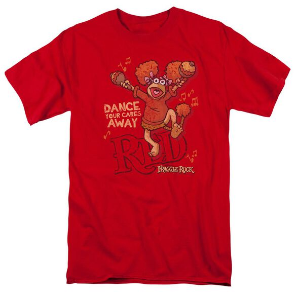 Fraggle Rock Dance Short Sleeve Adult Red T-Shirt