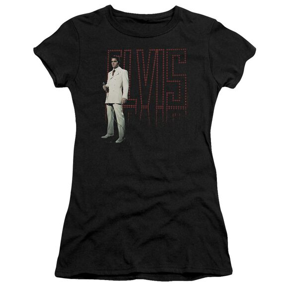 Elvis White Suit Short Sleeve Junior Sheer T-Shirt