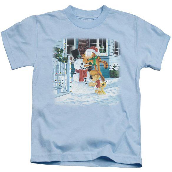 Garfield Snow Fun Short Sleeve Juvenile Light T-Shirt