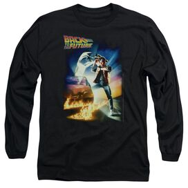 Back To The Future Poster Long Sleeve Adult T-Shirt