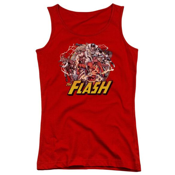 Jla Flash Family Juniors Tank Top